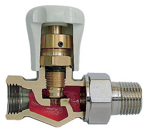 запорный клапан на системе отопления